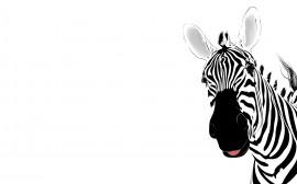 Papel de parede Zebra em Arte Gráfica