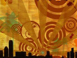 Papel de parede Abstrato – Cidade