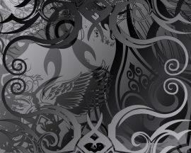 Papel de parede Abstrato – Preto e Cinza