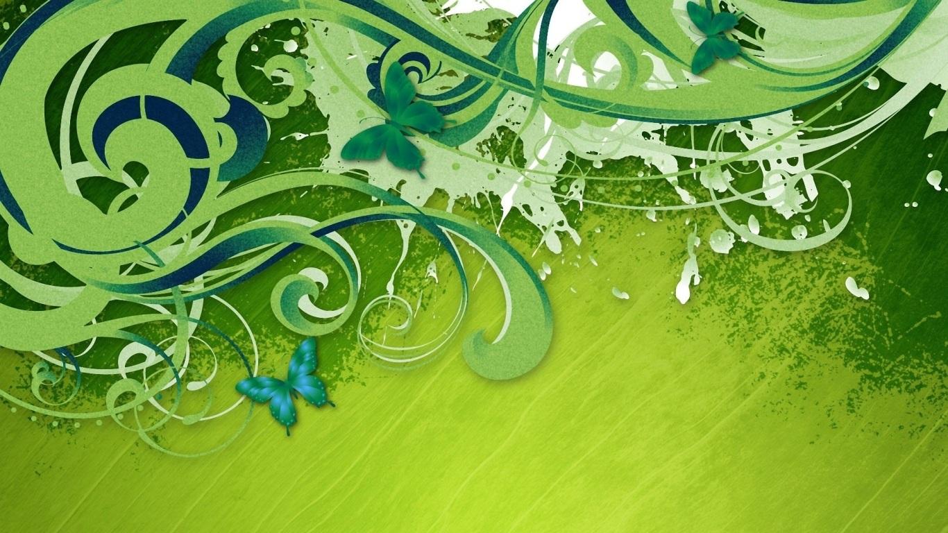 Papel de parede abstrato verde com borboletas wallpaper for Papel de pared dorado