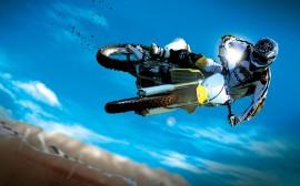 Papel de parede Motocross: Acrobacia Aérea