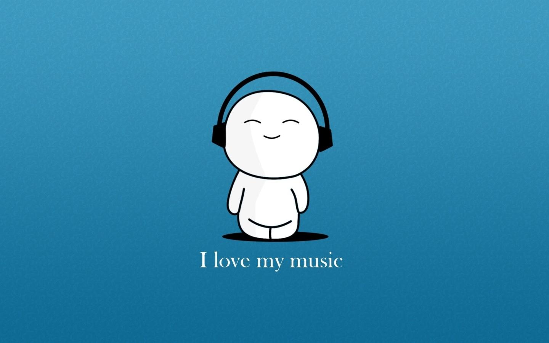 I Love Music Hd Wallpaper For Mobile: Papel De Parede Amo Minha Música Wallpaper Para Download