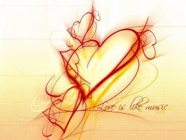 Papel de parede Amor é como a música