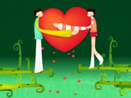 Papel de parede Amor no Dia do Namorados