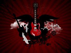 Papel de parede Amor pela Guitarra