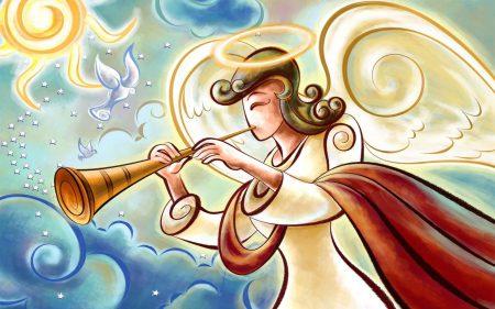 Papel de parede Anjos de Natal – Desenho para download gratuito. Use no computador pc, mac, macbook, celular, smartphone, iPhone, onde quiser!