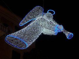 Papel de parede Anjos de Natal – Luminoso