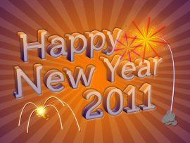 Papel de parede Ano Novo Alegre
