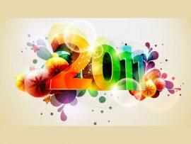 Papel de parede Ano Novo Colorido