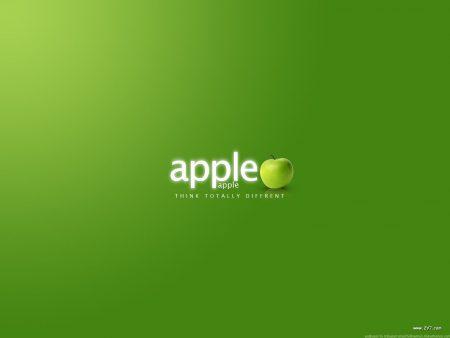 Papel de parede Apple verde para download gratuito. Use no computador pc, mac, macbook, celular, smartphone, iPhone, onde quiser!