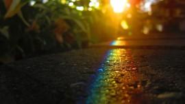 Papel de parede Arco-Íris no Chão