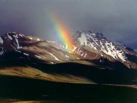 Papel de parede Arco-Íris entre as montanhas