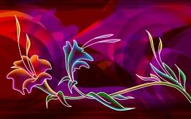 Papel de parede Arte Púrpura