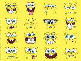 Papel de parede As Caras de Bob Esponja