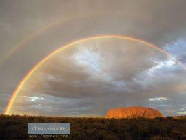 Papel de parede Austrália – Duplo Arco-Iris