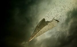 Papel de parede Avião de Papel