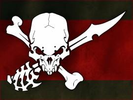 Papel de parede Bandeira  Pirata Razig