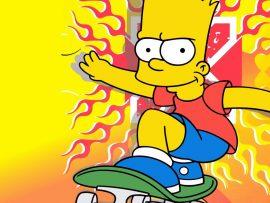 Papel de parede Bart – Uma fera no skate