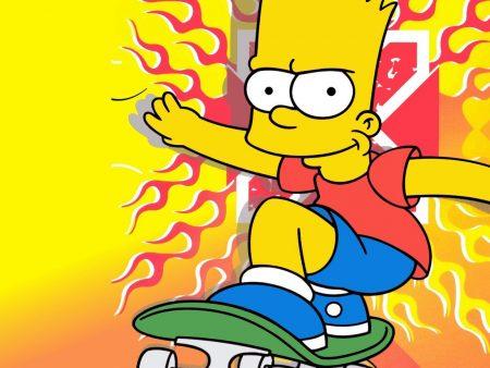 Papel de parede Bart – Uma fera no skate para download gratuito. Use no computador pc, mac, macbook, celular, smartphone, iPhone, onde quiser!