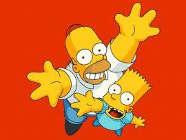 Papel de parede Bart e Homer Simpson