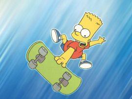 Papel de parede Bart e Skate