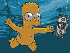 Papel de parede Bart Nirvana