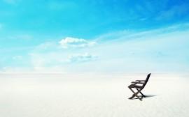 Papel de parede A Cadeira e a Praia