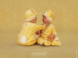Papel de parede Bebês Se Conhecendo
