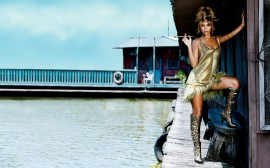 Papel de parede Beyoncé Dourada