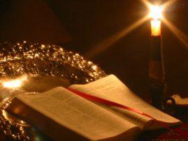 Papel de parede Bíblia e vela [2]