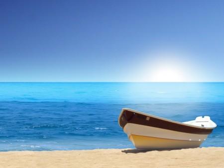 Papel de parede Barquinho na Praia para download gratuito. Use no computador pc, mac, macbook, celular, smartphone, iPhone, onde quiser!