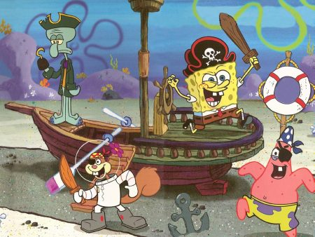 Papel de parede Bob Esponja Pirata para download gratuito. Use no computador pc, mac, macbook, celular, smartphone, iPhone, onde quiser!