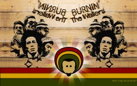 Papel de parede Bob Marley and The Wailers – Burnin
