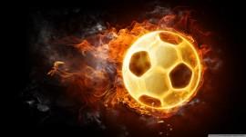 Papel de parede Bola de Futebol em Chamas