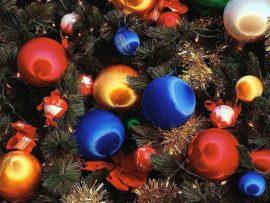 Papel de parede Bolas de Natal