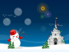 Papel de parede Boneco de Neve e Castelo