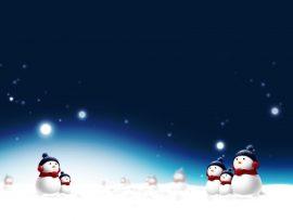 Papel de parede Bonecos de Neve no Natal