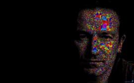 Papel de parede Bono, Vocalista do U2