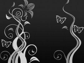Papel de parede Borboleta – Preto e Branco