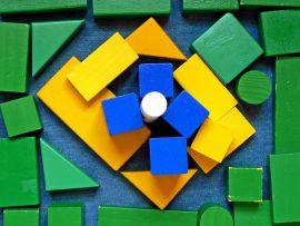Papel de parede Brasil – Bandeira de peças