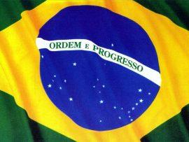Papel de parede Brasil – Bandeira Tremulando