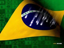Papel de parede Brasil – Estrelas caindo