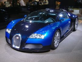 Papel de parede Bugati Veyron em Exposição