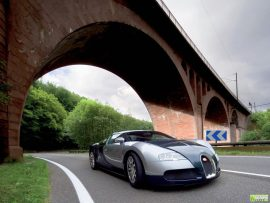 Papel de parede Bugatti na rua