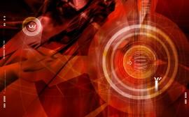 Papel de parede Círculos Vermelhos