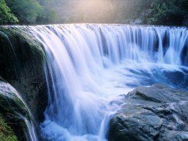 Papel de parede Cachoeira Iluminada