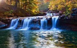 Papel de parede Cachoeira Azulada