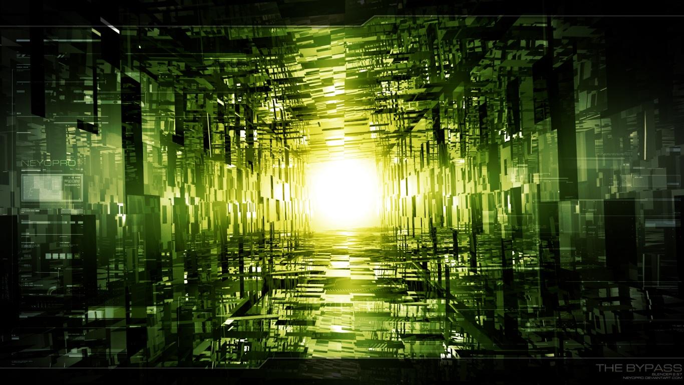 Papel de parede caminho iluminado wallpaper para download for Papel de pared negro
