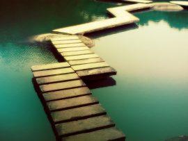 Papel de parede Caminho sobre as águas