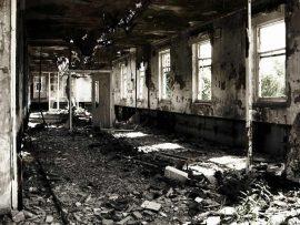 Papel de parede Casa Destruída